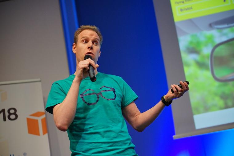 Simon speaking at AWS Sofia