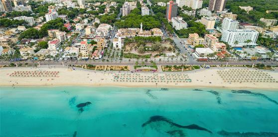 Palma Beach, Mallorca, Spain