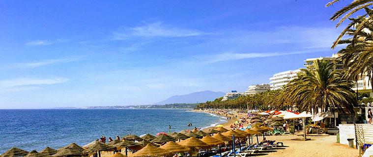 Marbella Beach, Costa del Sol near Malaga