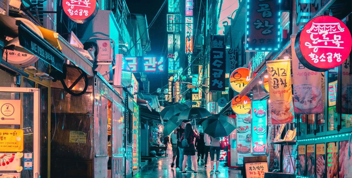 Bright lights of Seoul