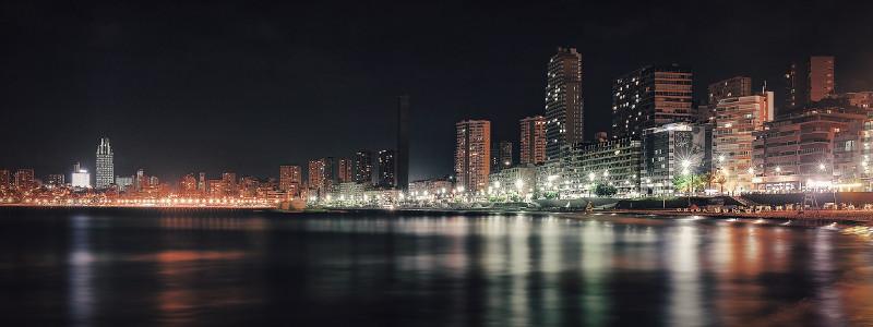 Benidorm at night