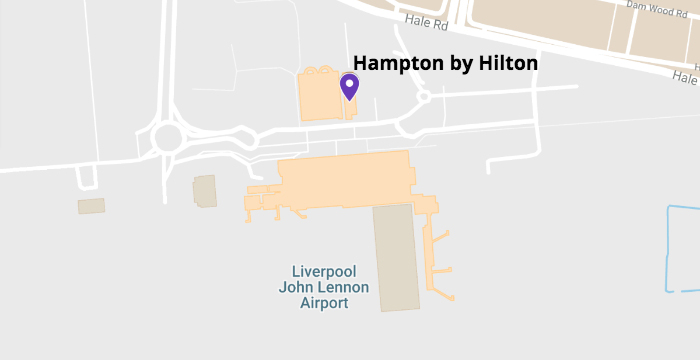 hampton by hilton at livepool john lennon airport map
