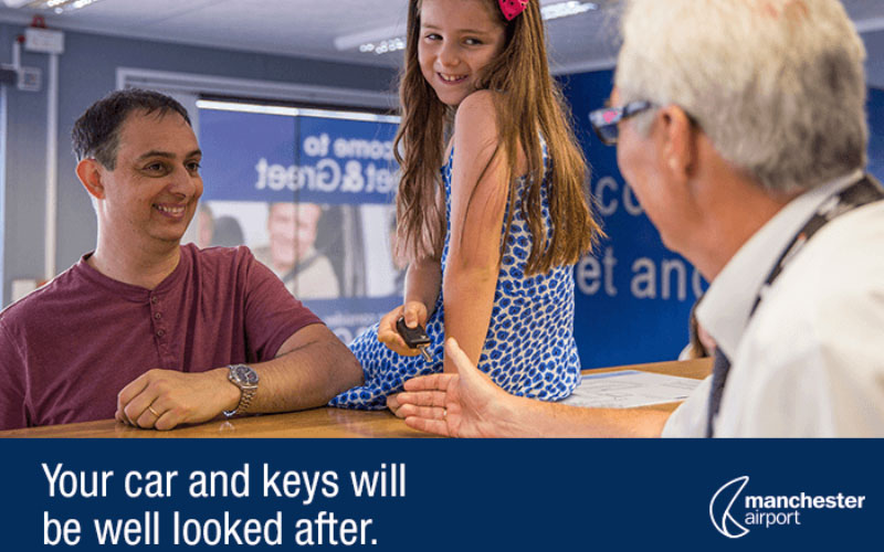 meet and greet parking at manchester airport terminal 1, hand your keys in at reception