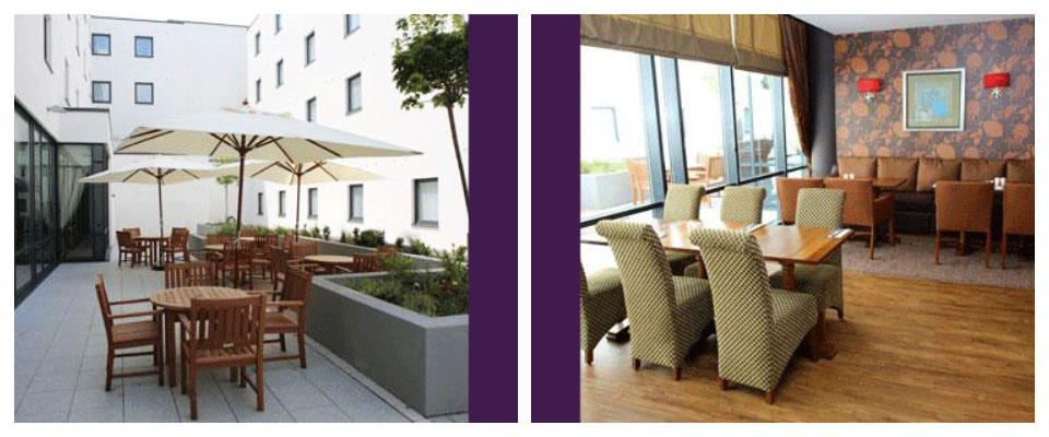 premier inn stansted airport exterior and dining