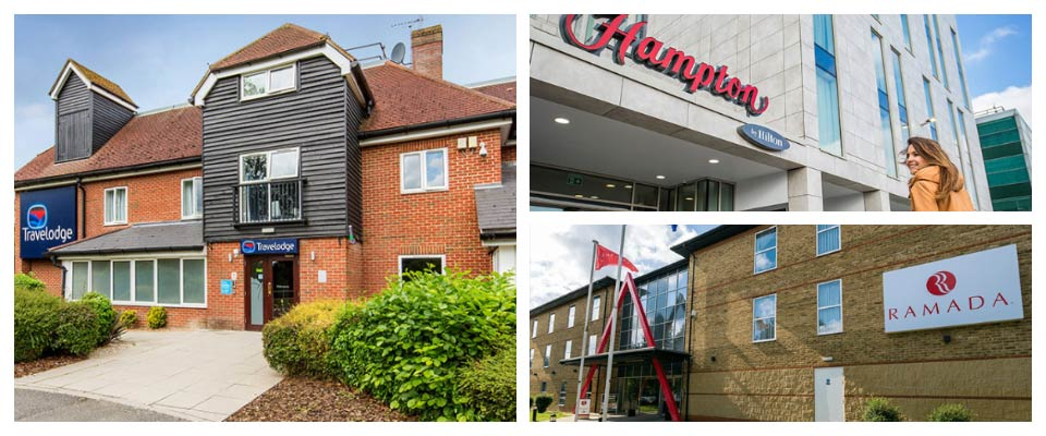 ramada, hilton by hampton and travelodge three star hotels at stansted airport
