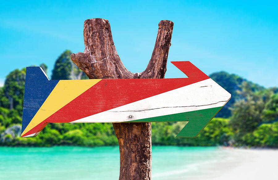 Seychelles beach flag