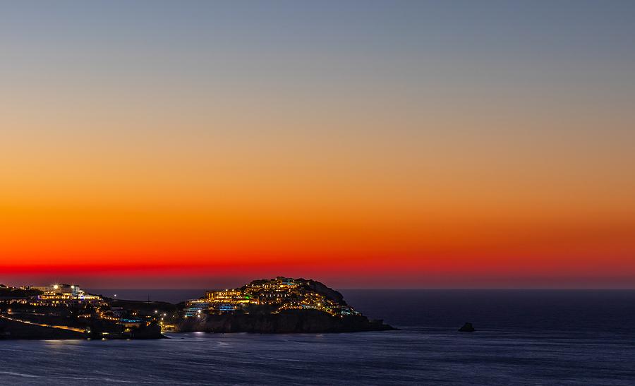 Crete at night