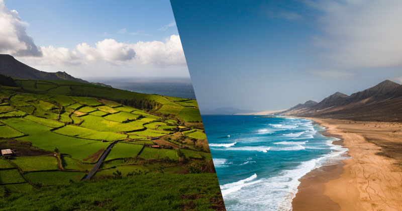 Canary Islands vs The Azores