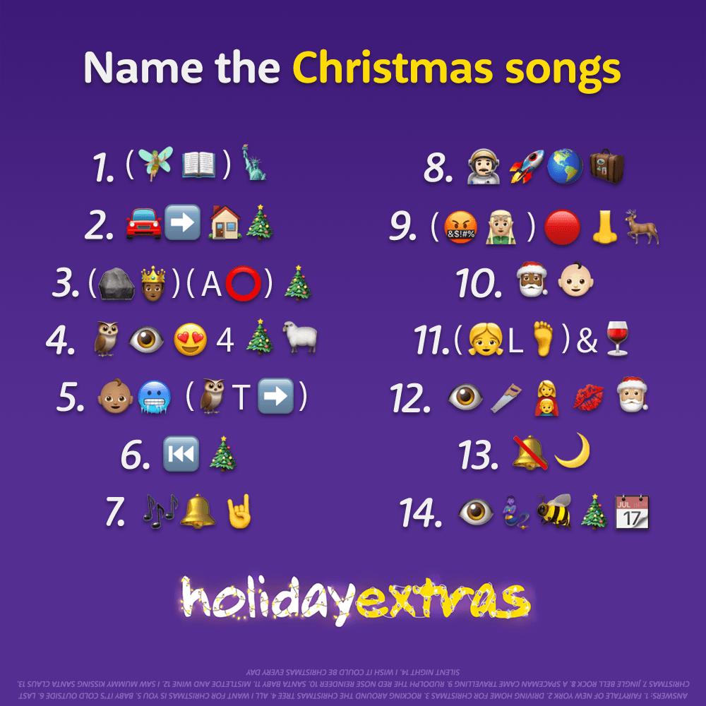 christmas song emoji quiz