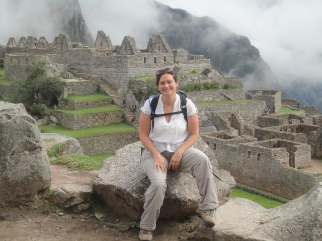 Vicky at Ruins