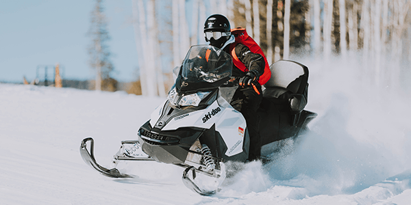 Driving in the snow - Snowmobile