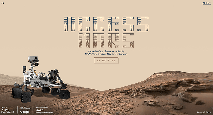 Take a virtual tour of Mars