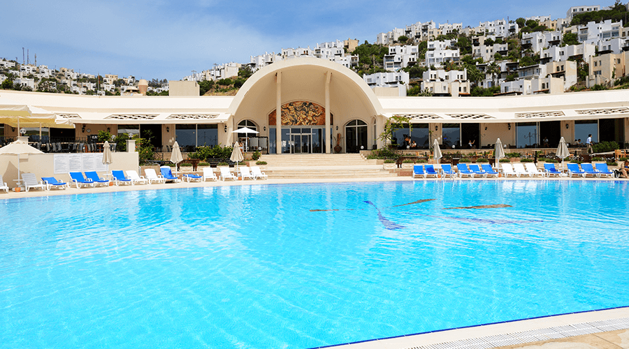 Bodrum hotel resort and pool