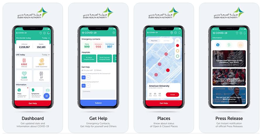 Dubai Covid Tracking App
