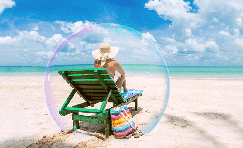 Travel insurance bubble