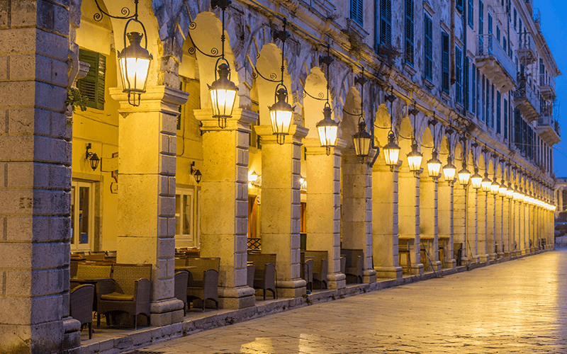 Liston Arcade, Corfu Town