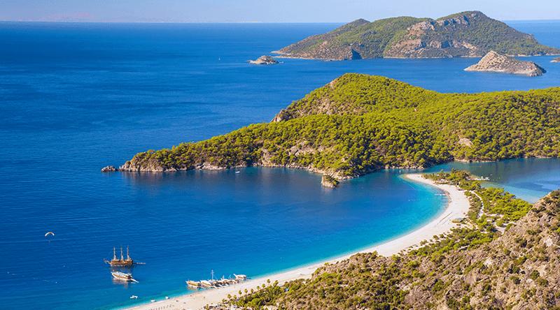 oludeniz beach from above