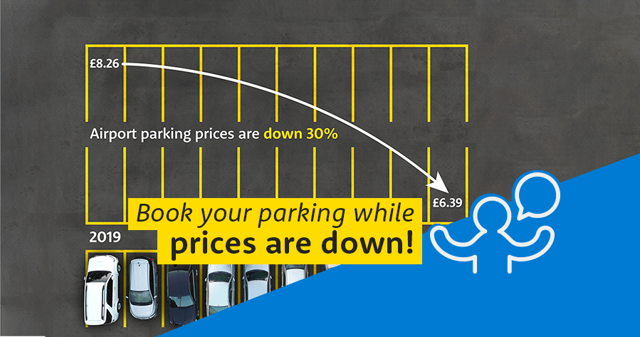 Airport parking prices down 30%