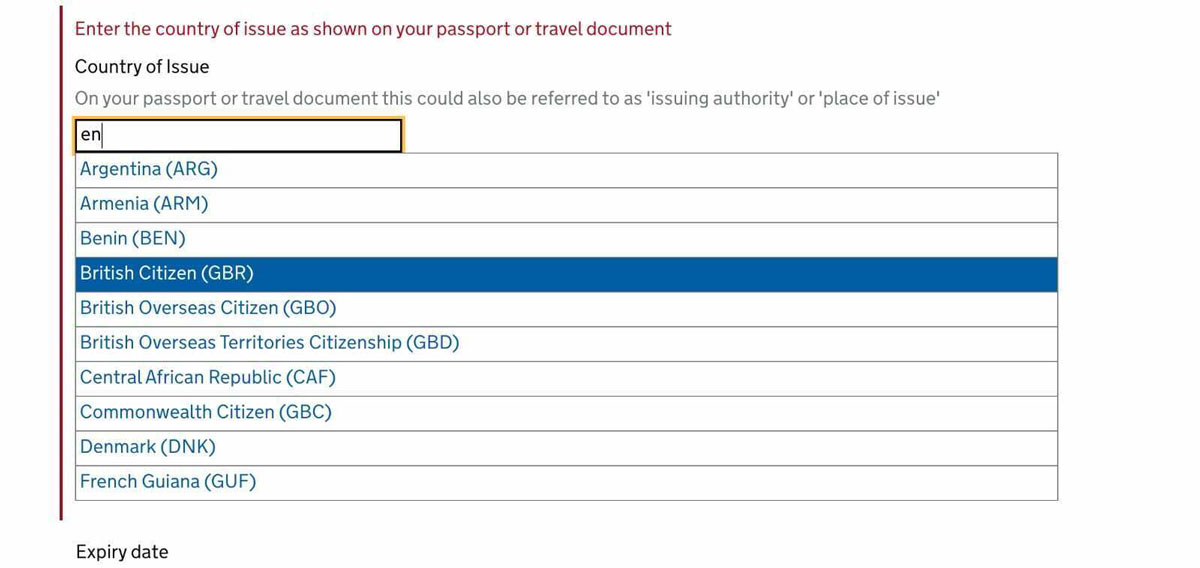 Advice on how to fill out the passenger locator for to return to the UK