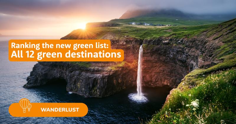 Ranking the green list destinations