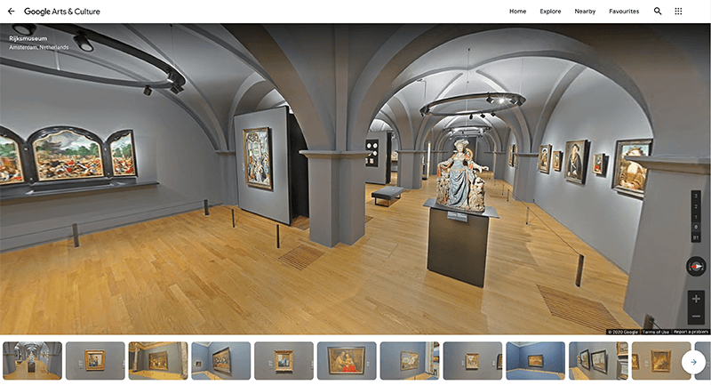Rijksmuseum Virtual Tour on Google Arts & Culture