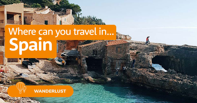 Where can you travel in Spain?