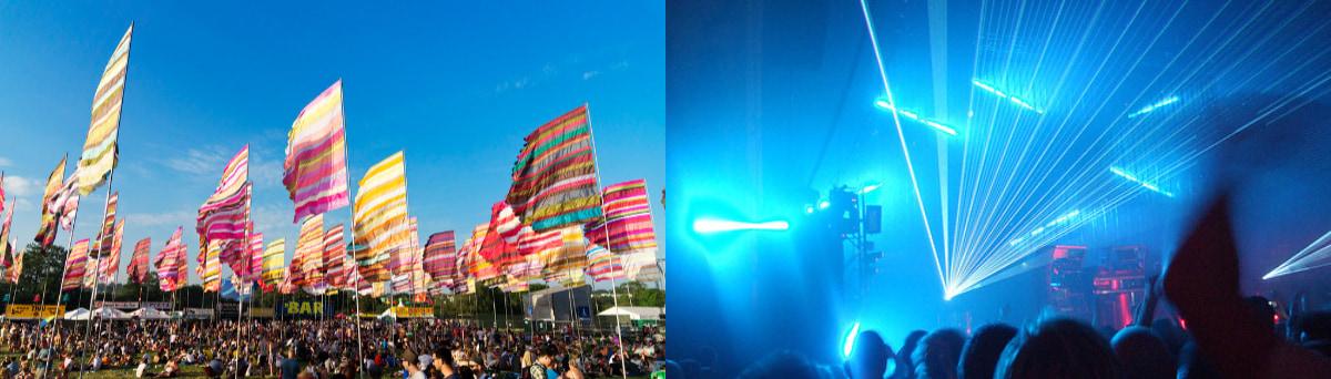 Glastonbury and Sonar Festivals