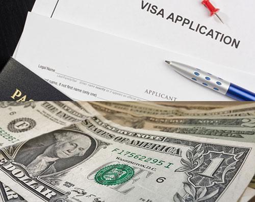 US Dollars and Visa
