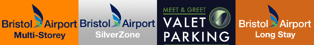 logos for parking in Bristol Airport