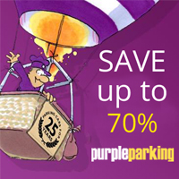 Save 70% on Airport Parking at Purple Parking