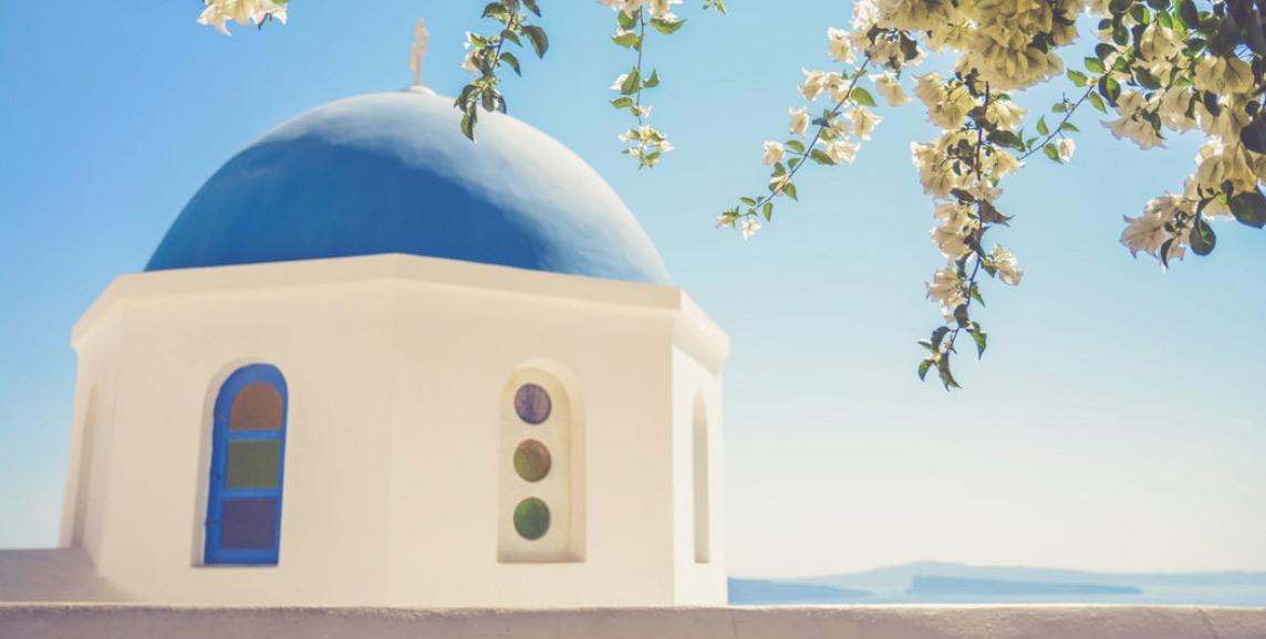 Traditional church, Santorini