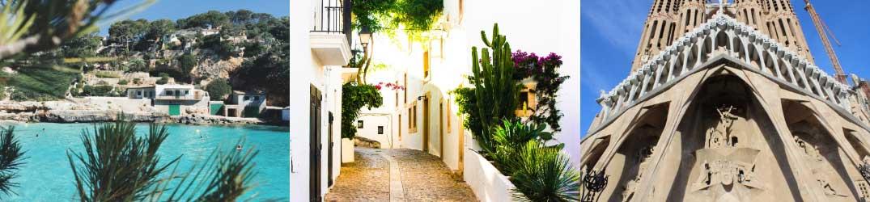 Majorca, Ibiza and Barcelona, Spain