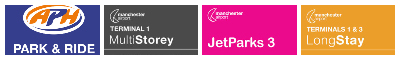 manchester airport parking discount logo banner