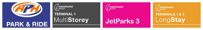 manchester airport parking discount code logo banner