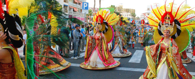 Colourful Carnival costumes