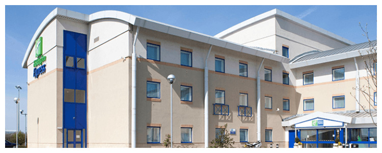 holiday inn express hotel exterior photo at Cardiff Airport