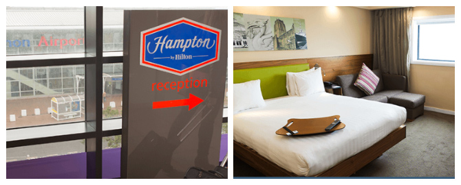 liverpool airport hotels hampton by hilton walkway and bedroom