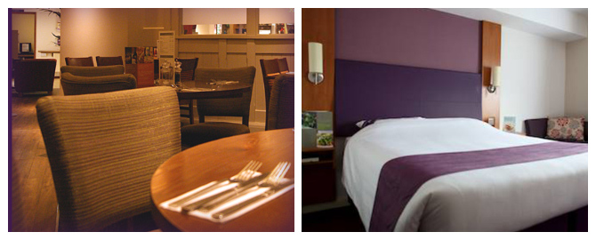 premier inn hotel at liverpool airport restaurant and bedroom